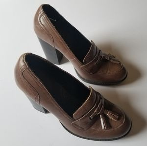 b.o.c. | Born Concept Brown Leather Loafers 6.5